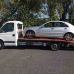a car being towed in Wirral